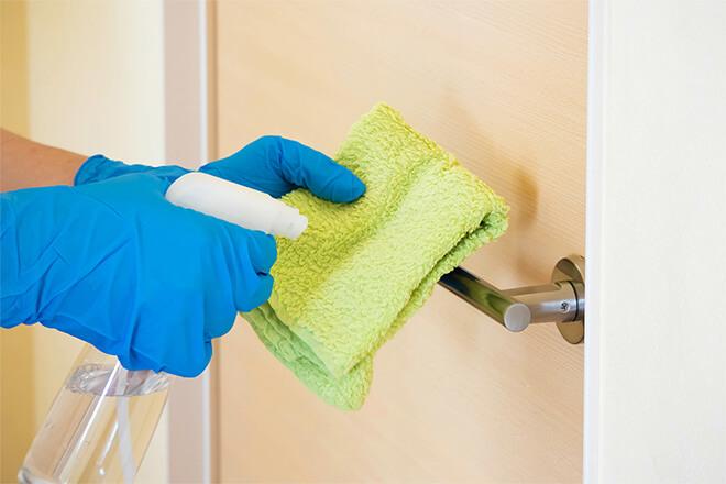 画像:徹底した院内消毒と衛生管理イメージ